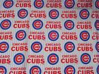 Licensed MLB Chicago Cubs Baseball Fabric 2 1/2 Yards 59