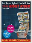 1976 BALLY NIGHT RIDER PINBALL FLYER