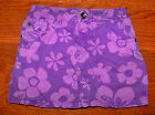Girls THE CHILDREN'S PLACE Purple Cotton Floral Skorts Skirt Size 6X / 7