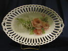 Rudolf Wachter porcelain bowl,Germany/Bavaria,reticulated,roses/lilies of valley
