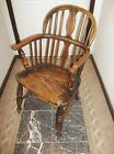 Early 19th Century Vasiform Splat Back Windsor Arm Chair Stamped M QUINCEY