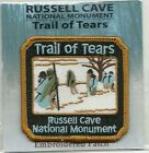 SOUVENIR PATCH - RUSSELL CAVE NATIONAL MONUMENT -TRAIL OF TEARS