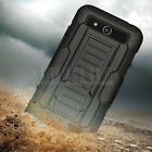 Rugged Armor Hybrid Case Hard Kickstand Cover Clip Holster For ZTE Speed N9130