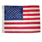 12x18 Inch MOTORCYCLE BOAT Embroidered American US Nylon USA Sewn Grommet Flag