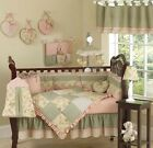 SWEET JOJO LUXURY BOUTIQUE GREEN FLOWER BABY GIRL BEDDING 9pc NEWBORN CRIB SET