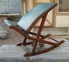 Adjustable Gout Chair Collapsable Rocking Foot Rest ~L@@K~ Leather and Wood
