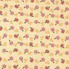 Tiny Red Flowers on Soft Yellow Cotton Fabric by Northcott BTHY