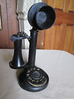 Vintage Toy Celluloid / Bakelite Candlestick Telephone Dial with bell sound,