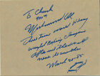 MUHAMMAD ALI SIGNED QUOTE w BOXING RING SKETCH--THERE WILL NEVER BE ANOTHER--JSA