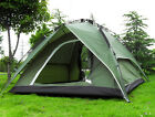 NEW 3 4 Person Green Double layer Waterproof Family Camping Hiking Instant Tent