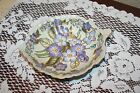 Vintage Asian LustreWare Colorful Leaf Dish With Original Satin Lined Box
