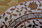 ANTIQUE PAINTED PERSIAN BIRD TURKISH PORCELAIN PLATE VIENNA SHIELD BEEHIVE MARK