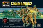 Plastic Toy Soldiers 28mm WWII British Commandos Warlord Games 25 Figures WGBI03