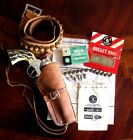 1950's Mattel Shootin' Shell Colt 45 Cap Gun (The Big One) & Leather Holster Set