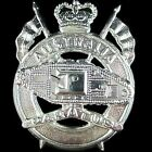 ARMY 1st ARMOURED REGIMENT ROYAL AUSTRALIAN ARMOURED CORPS HAT CAP BADGE