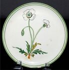 Italy Bread Plate Vintage Pottery Wild Flowers