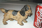 WHITE COCKER SPANIEL CAST IRON DOG STATUE TOY DOORSTOP