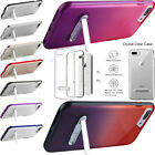 For Apple iPhone 7  7 PLUS Clear Hybrid Hard Dual Layered Kickstand Phone Case
