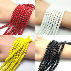 Wholesale Rondelle Faceted Crystal Glass Loose Spacer Beads 4 6 8 10mm Findings