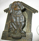 ANTIQUE CJO JUDD CAST IRON DACHSHUND DOG PAPER WALL CLIP HOLDER PAPERW