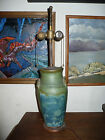 Unmarked Art Pottery Urn Lamp from 1930's or 1940's, 11 1/2