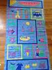 Cotton Fabric-Summer's Out Panel by Sandy Gervais for Moda- BLUE, Beach, Boats