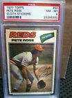 1977 Topps # 38 Pete Rose Cloth Stickers PSA NM MT 8........B-6350
