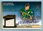 MIKE MODANO 2002 03 TOPPS FIRST ROUND FABRICS GAME 2 COLOR JERSEY AUTOGRAPH AUTO