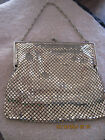 Vintage Beautiful Designer Gold Metal Art Deco Box Style Purse/Evening Bag