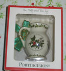 Portmeirion The Holly & the Ivy Pitcher Ornament Holiday Christmas Tree white