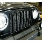 Rampage 86514 Gloss Black One Piece 3D Grill for 97 06 Jeep Wrangler TJ