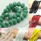 20 100 Rondelle Faceted Crystal Glass Loose Spacer Beads DIY Findings 4 6 8 10mm