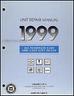 1999 Chevy Geo Manual Transmission Overhaul Book Tracker Metro Prizm OEM