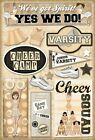 KAREN FOSTER DESIGN CHEER CAMP CHEERLEADING SPORTS CARDSTOCK SCRAPBOOK STICKERS