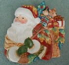 Fitz & Floyd Classics Christmas Santa & Toys Cookie Plate Holiday Solstice