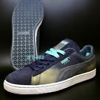 PUMA SUEDE CLASSIC COLORBURN NAVY TURBULENCE GREEN MENS SIZE 10 105