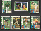 TOPPS TIFFANY ATHLETICS TEAM SETS, + TRADED, 1984, 85, 86, 87, 88, + 6 SPECIALS