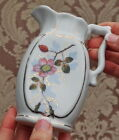 ANTIQUE ENGLISH AESTHETIC SMALL PORCELAIN PITCHER CREAMER ROSEHIP FLOWER DESIGN