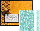 POPPY Anna Griffin embossing folder set CUTTLEBUG EMBOSSING FOLDERS 5x7 flowers
