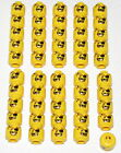 LEGO LOT OF 50 NEW PIRATE MINIFIGURE HEADS WITH GOLD THEETH AND EYEPATCH