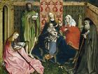 STUDENT ROBERT CAMPIN MADONNA CHILD SAINTS ENCLOSED GARDEN ARTWORK PRINT BB6398A