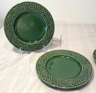 Hampton Home Forge Green Dinner Plates Christmas Berries Set of 2 Holly