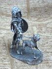 Noble Roman with dog Awesome Metal Tin Figurine Soldier Model 1:32 54mm