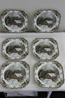 6 JOHNSON BROS THE FRIENDLY VILLAGE ~ THE COVERED BRIDGE SQUARE SALAD PLATES