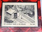* Campbell HO Scale Speeder Shed & Ice House Craftsman Building Kit - NEW