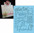 CUTTLEBUG EMBOSSING FOLDERS THANKS words phrases Embossing Folder NEW A2