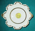 Vintage CHUBU CHINA Round White BOWL Gold Trim Cherry Exclusive Hand Painted