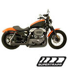 04 13 Harley XL Models Staggered Mean Mothers Black Exhaust Drag Pipes