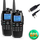 2xTYT DM-UVF10 Two Way Radio Dual Band Transceiver Walkie Talkie+GPS Positioning