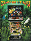 1992 BALLY MIDWAY CREATURE FROM THE BLACK LAGOON PINBALL FLYER